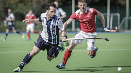 Hampstead & Westminster's Johnny Codling in action against Holcombe. Picture: MARK CLEWS