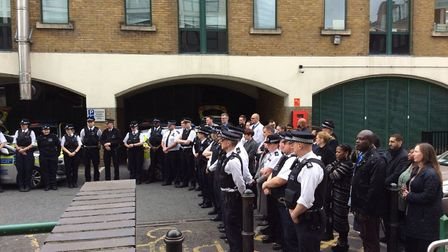 Police in Hackney remember PC Keith Palmer and others who lost their lives on March 22