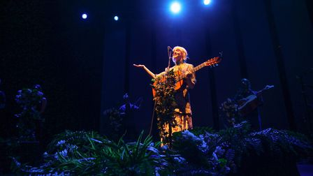 Laura Marling performing live on stage at The Roundhouse. Picture: Richard Gray
