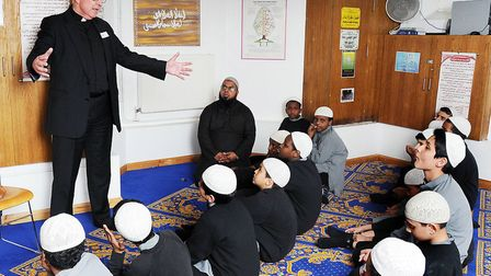 Dr John Hall, the Dean of Westminster Abbey and the direct chaplain to HM The Queen, visiting Tawhid