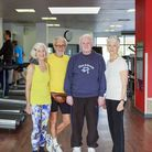 Health ambassadors (from left to right) Dot Collins, 75, Barry Collins, 76, John Hadley, 72 and Ros