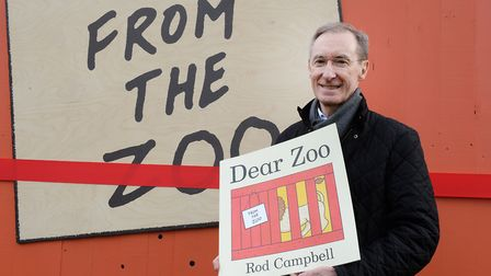 Rod Campbell author of Dear Zoo at London Zoo