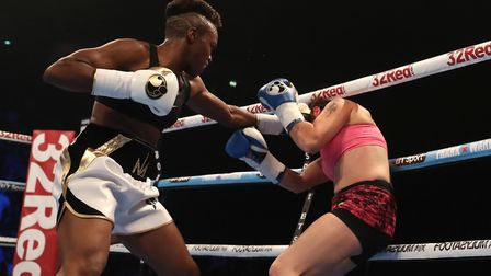 Nicola Adams picked up the win against Virginia Noemi Carcamo at Manchester Arena. Picture: SIMON CO