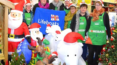 Staff from the Homebase store in Lowestoft prepare for their charity Christmas event this weekend. P
