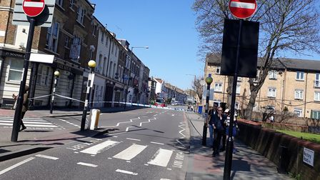 Rectory Road and Evering Road were taped off. Picture: Zoah Hedges-Stocks