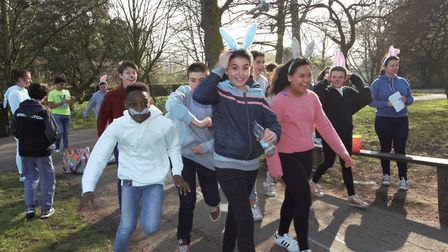 Portland Place School's Easter 'bunny run'.