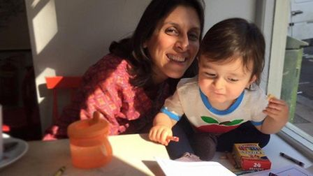 Nazanin and Gabriella drawing together. Photo: Ratcliffe family