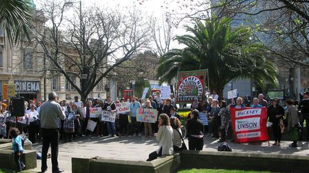The Hackney National Union of Teachers called a rally outside the town hall on Thursday.