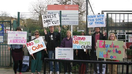 Teachers at Parkwood Primary School went on strike on Thursday over the loss of three intervention t