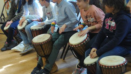 Students from St Saviour's School taking part in 'imaginarium day'. Photo by Lily G