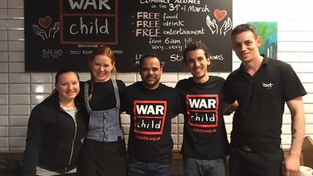 Staff from Remon cafe in Finchley Road held a charity event for War Child