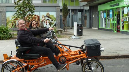 The unique cycle taxi service is lauching this month.