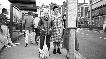 Dalston Lane in 1983. Picture: ALAN DENNEY