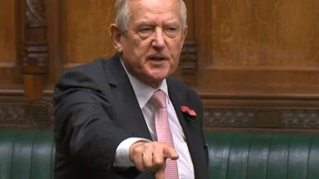 Barry Sheerman in the House of Commons (Photograph: Parliament TV)