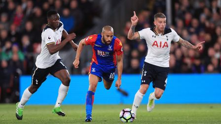 Crystal Palace's Andros Townsend on the ball against former club Tottenham at Selhurst Park (pic Ada