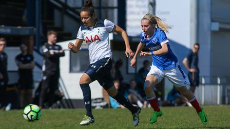 Leah Rawle in action for Tottenham Ladies at Portsmouth. Picture: JORDAN HAMPTON/PORTSMOUTH FC