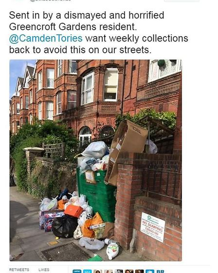 Swiss Cottage Conservatives complaining. Picture: Twitter