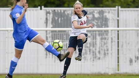 Tottenham's Sophie Mclean in action against Cardiff last weekend (pic: wusphotography.com).