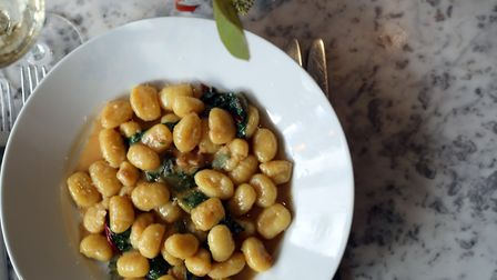 Crispy gnocci with parsley roots and a cultured butter emulsion