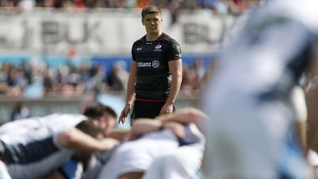 Saracens' Owen Farrell during the European Champions Cup, Quarter-Final match at Allianz Park. Pictu