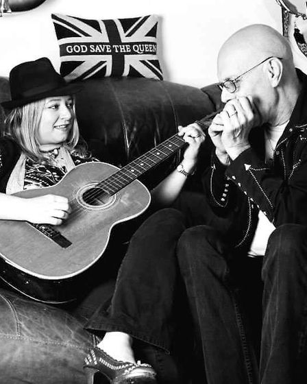 Barry Marshall-Everitt with his wife, the musician Bex Marshall. Picture: Bex Marshall