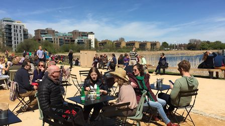 The cafe at Woodberry Wetlands. Photo: Penny Dixie