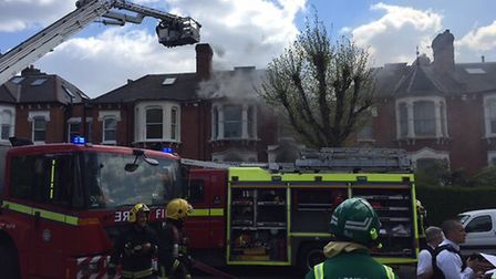 Fire crews battled to bring the fire under control. Picture: London Fire Brigade