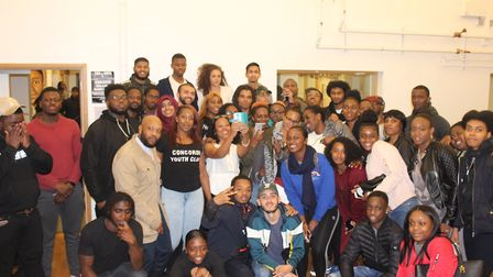 Rapper Akala visited the Concorde Youth Hub