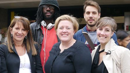 Dawn Barnes, centre, is standing in Hornsey and Wood Green. Picture: Lib Dems