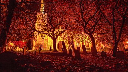 St Margaret's Church at night, taken by Wendy Beckham.