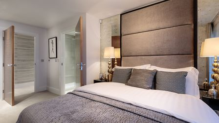 The bedrooms have the feel of a boutique hotel, which downsizers in particular love