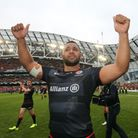 Billy Vunipola celebrates after helping Saracens beat Munster in the European Champions Cup semi-fin