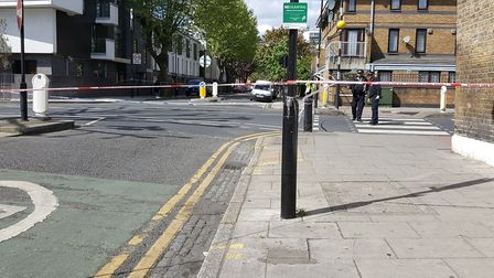 A man in his 30s was stabbed in Queensbridge Road this morning. Picture: Shulem Stern