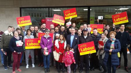 Camden Labour campaigners with current MPs Keir Starmer and Tulip Siddiq in Hampstead