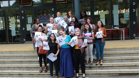Some of the highest achievers at Hornsey School for Girls