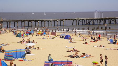 Visitors enjoying Lowestoft beach. Picture: Archant Library.