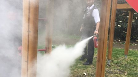 Police were called to a fire on a children's playground. Picture: Hackney Police