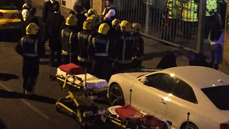 Mangal E8 is evacuated after the suspected acid attack. Picture: Phie McKenzie/@PhieMcKenzie