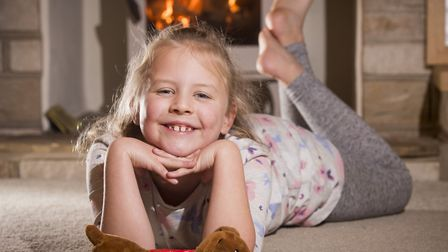 Poppy Overy,7, has overcome multiple cavernomas and is now a member of the Cavernoma Alliance.Pictur