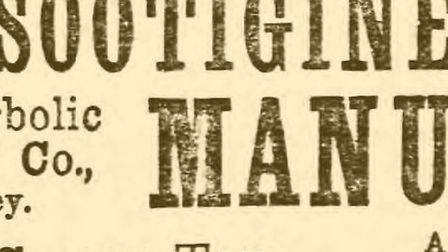 A newspaper advert for Sootigine from 1888.