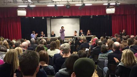 Rhodes Avenue Primary School played host to one of three public meetings across the borough in respo