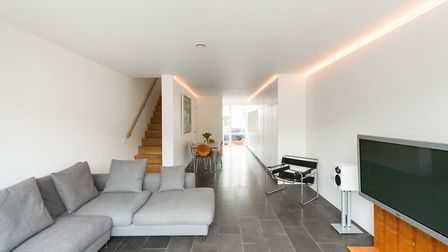 The main living area is flooded with natural light