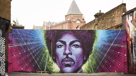 The Prince mural was unveiled outside the Electric Ballroom, in Camden