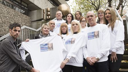 Friends and family of Kerri McAuley help launch the 'Kerri's Campaign' to raise £10K for Leeway. Pic