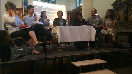 Education was the topic for debate at The Old Church hustings. Picture: Tom Horton