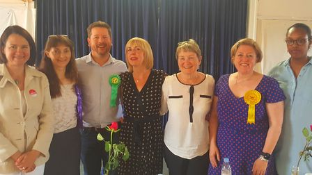 Hornsey and Wood Green candidates (L-R): Catherine West, Helen Spiby-Vann, Sam Hall, organisers Sue
