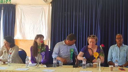 Hornsey and Wood Green candidates settle in for the 90 minute hustings. Picture: ANNA NICHOLSON