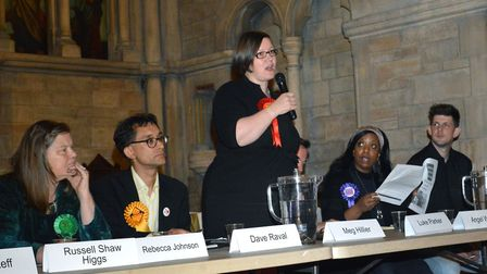 Eight out of 10 candidates turned up for Hustings. Picture: POLLY HANCOCK