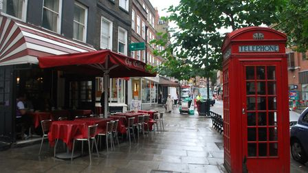Hampstead High Street (pictured) and surrounding streets in the village are in the 10 per cent least