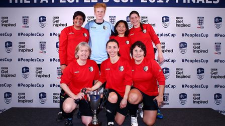 Hackney Jurassics won the female vets category of the FA People�s Cup on Monday (pic: Charlie Crowhu